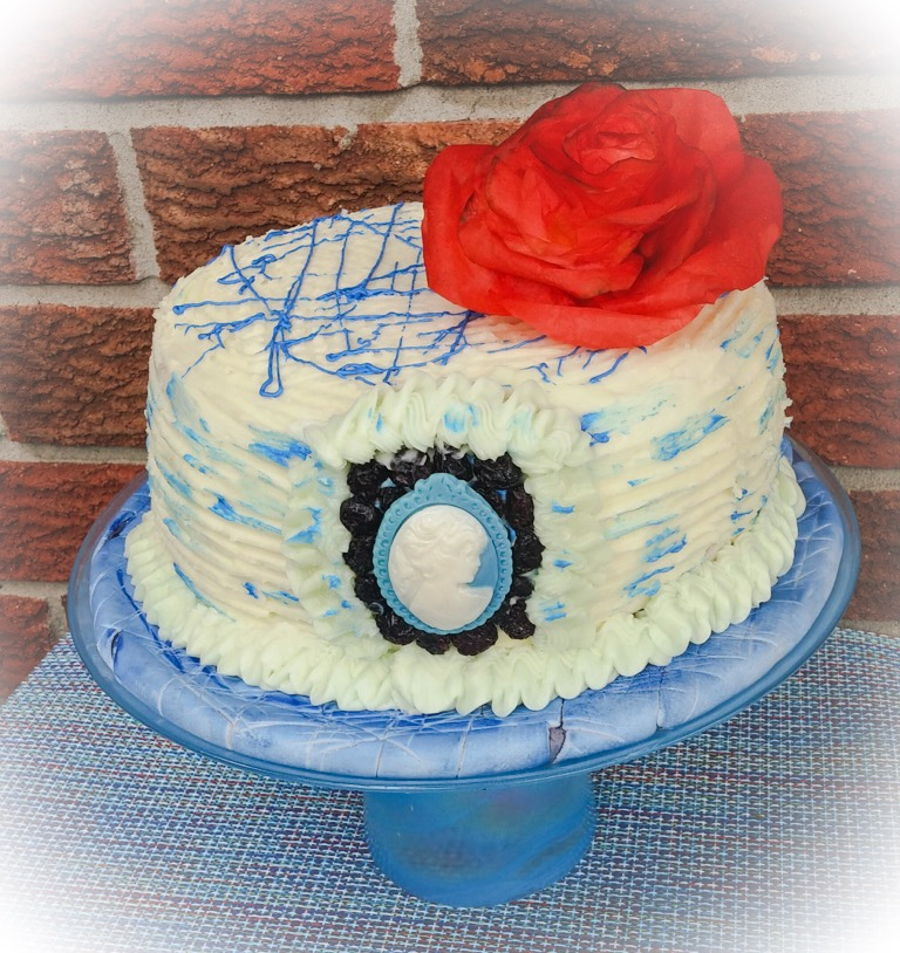 Blue Themed Birthday Cake Cakecentral Com