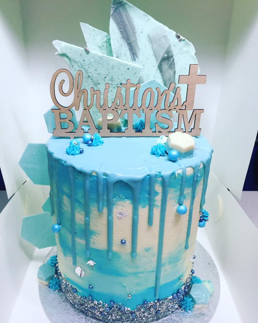 Dripping Square Birthday Cake