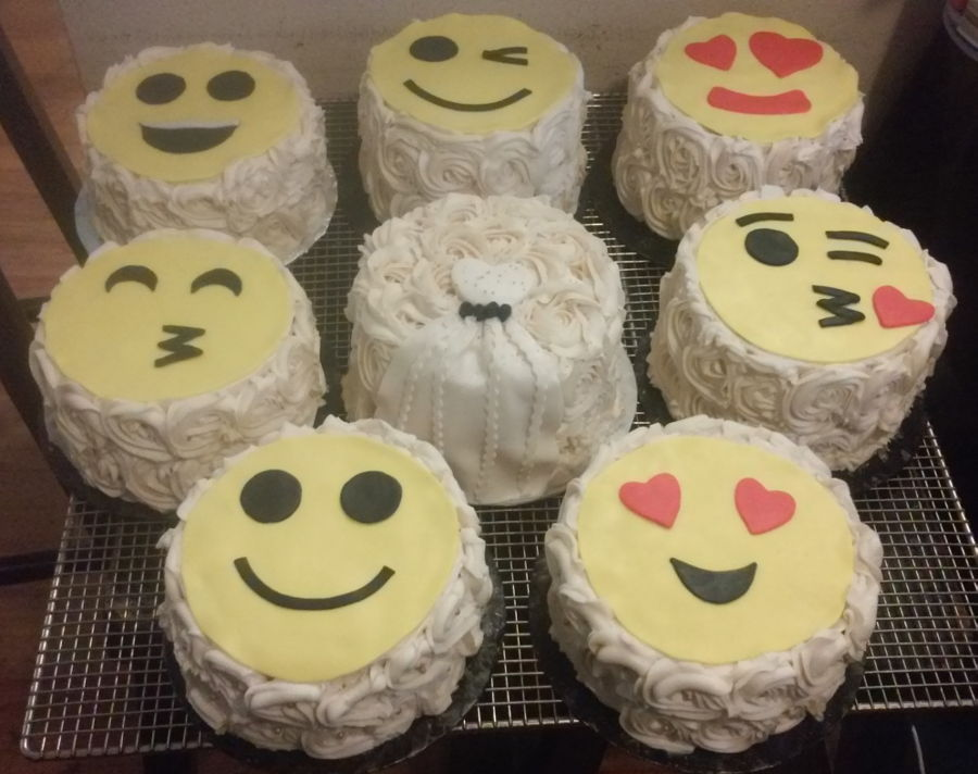 Emoji Faces Themed Thank You Wedding Party Cakes Cakecentral Com