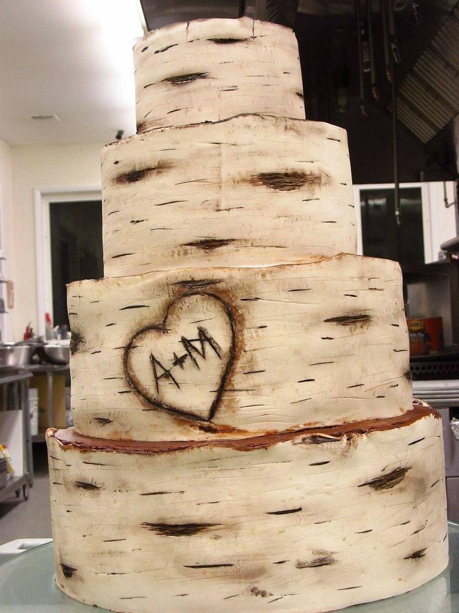 First Birch Bark Cake Cakecentral Com