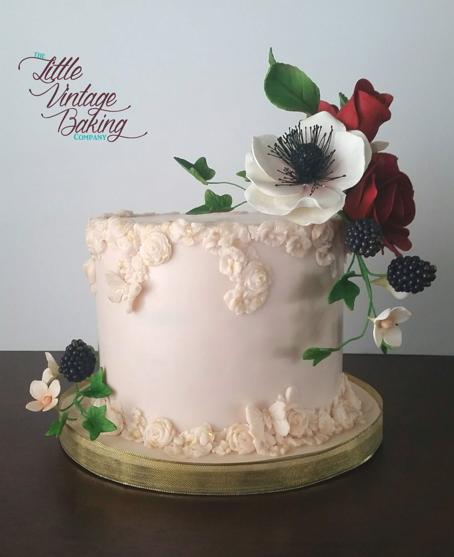 Floral Bas Relief Cake on Cake Central