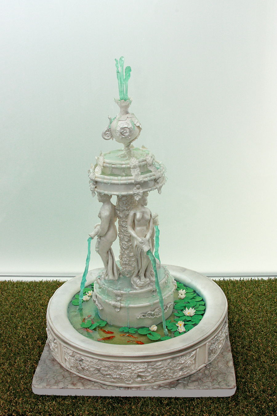 Fountain Birthday Cake
