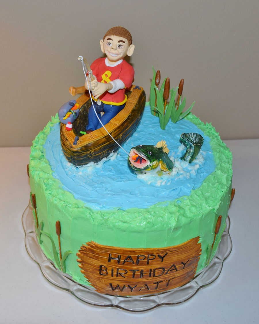 Happy Birthday Eddie Cake Images With A Fish