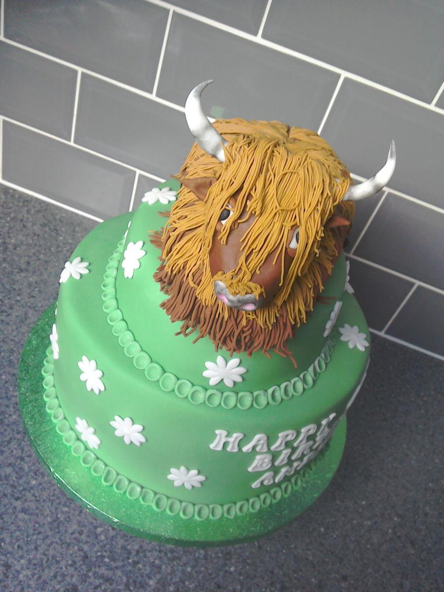 Highland Cow Birthday Cake - CakeCentral.com