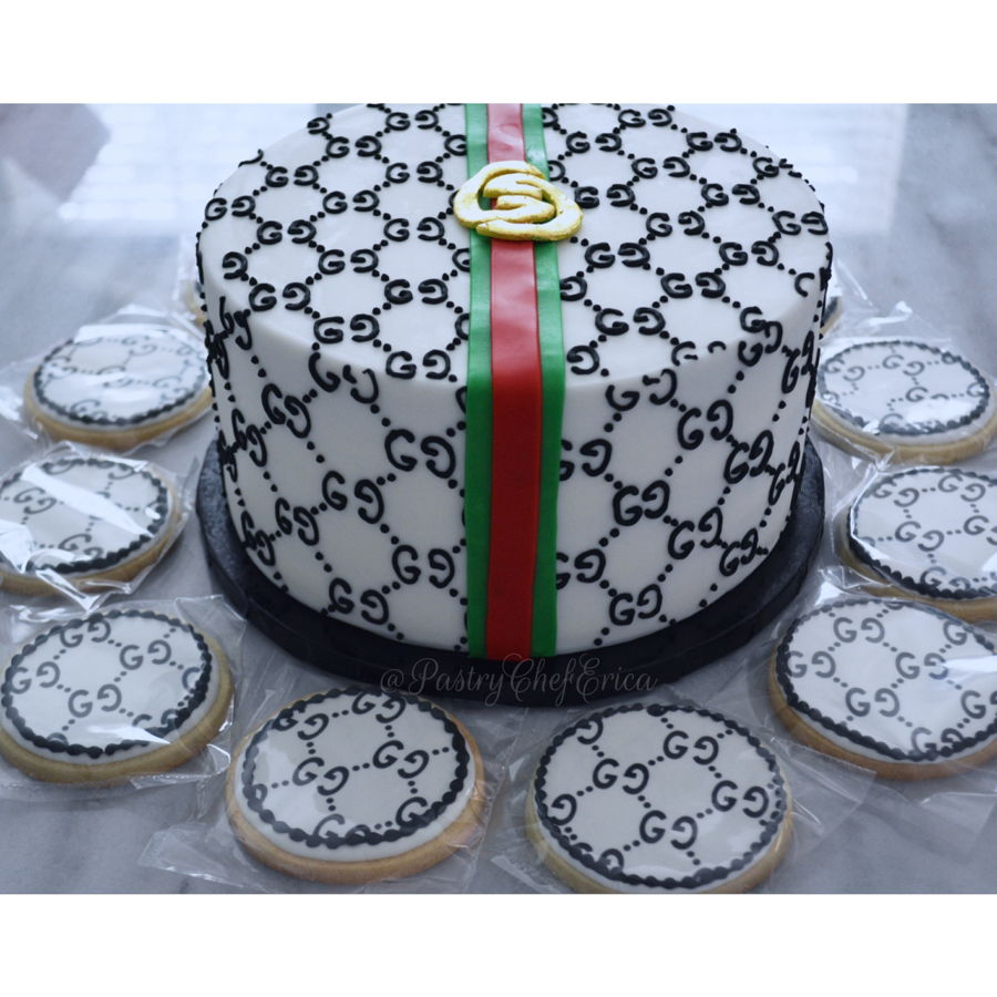 I Made This Cake For My Special Friends Son He Loves Gucci So His Mom Through Him A Party Lucky