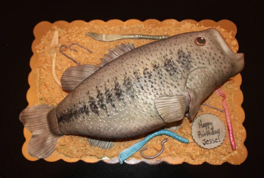 Largemouth bass fish cake for Baby bass fish