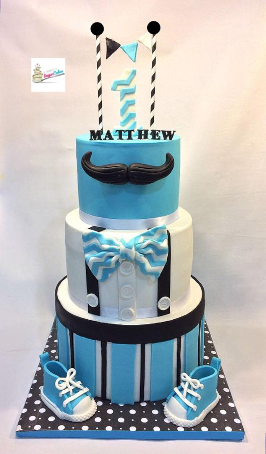 Little Man 1St Birthday Cake CakeCentralcom
