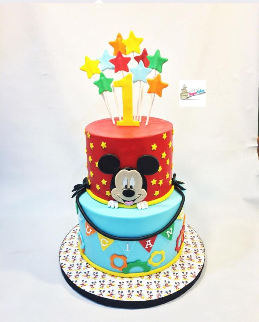 Mickey Mouse Themed 1st Birhday Cake Cakecentral Com
