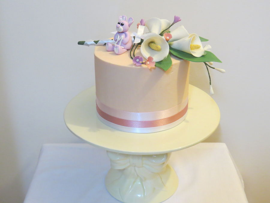 My Grandma S Birthday Cake Round Cake With Gumpaste Teddy