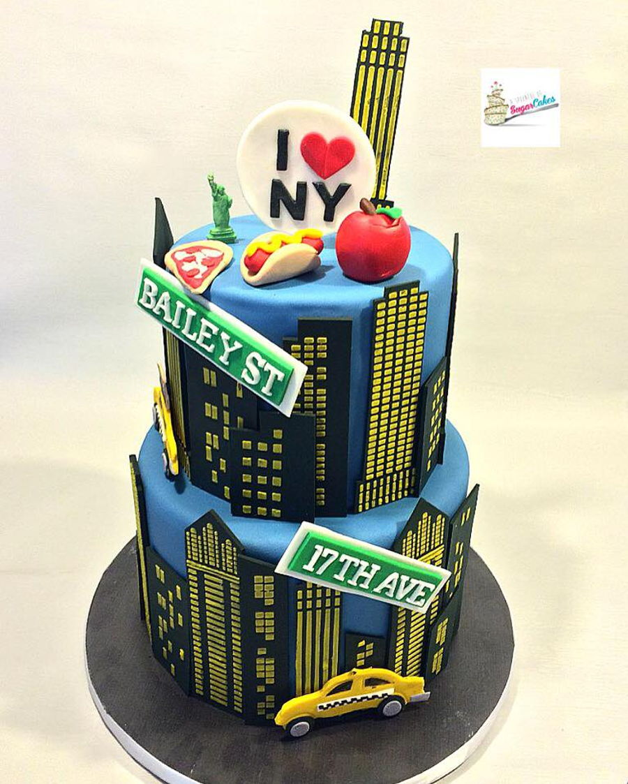 new york city themed cake   cakecentral