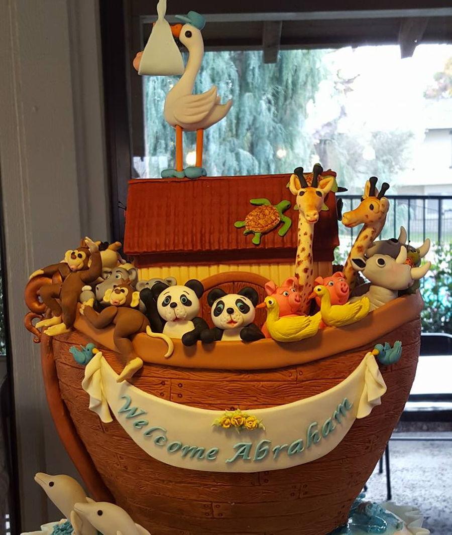 Noah S Ark Baby Shower Cake Cakecentral Com