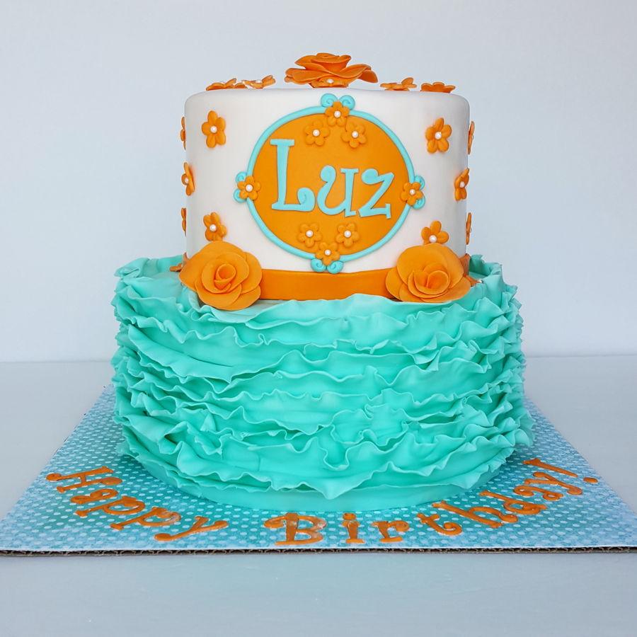 Chocolate Orange Ruffle Cake
