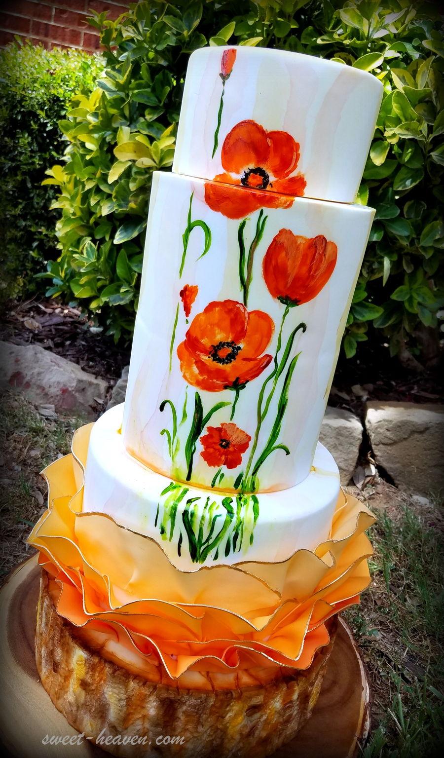 Poppy Wedding Cake Cakecentral Com