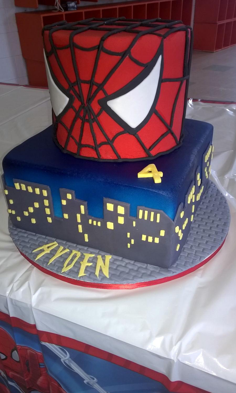 Spiderman Face Cake Design : Spiderman Face Cake - CakeCentral.com