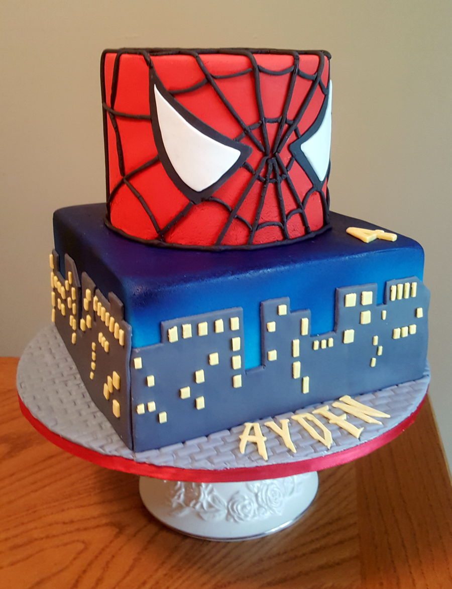Spiderman Face Cake - CakeCentral.com