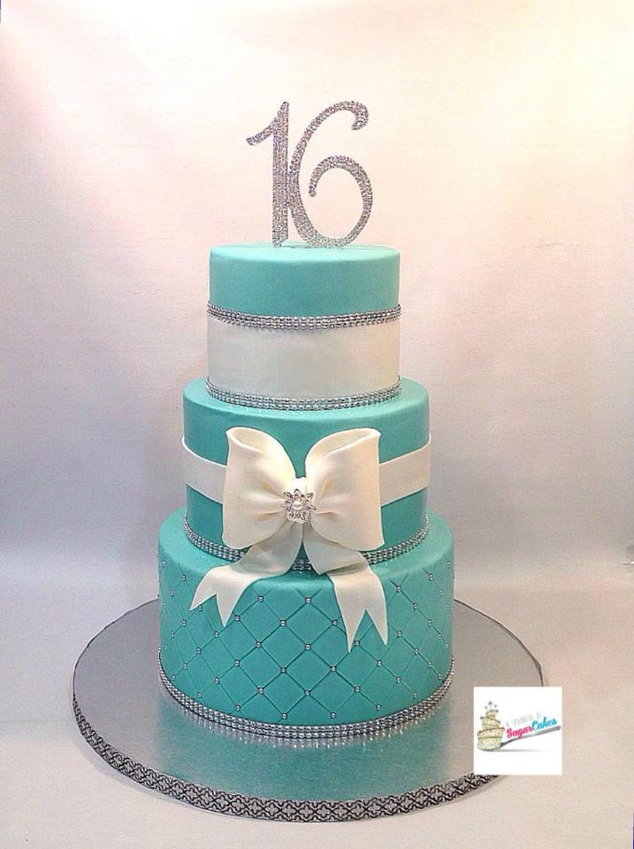 Tiffany Blue Sweet 16 Cake Cakecentral Com