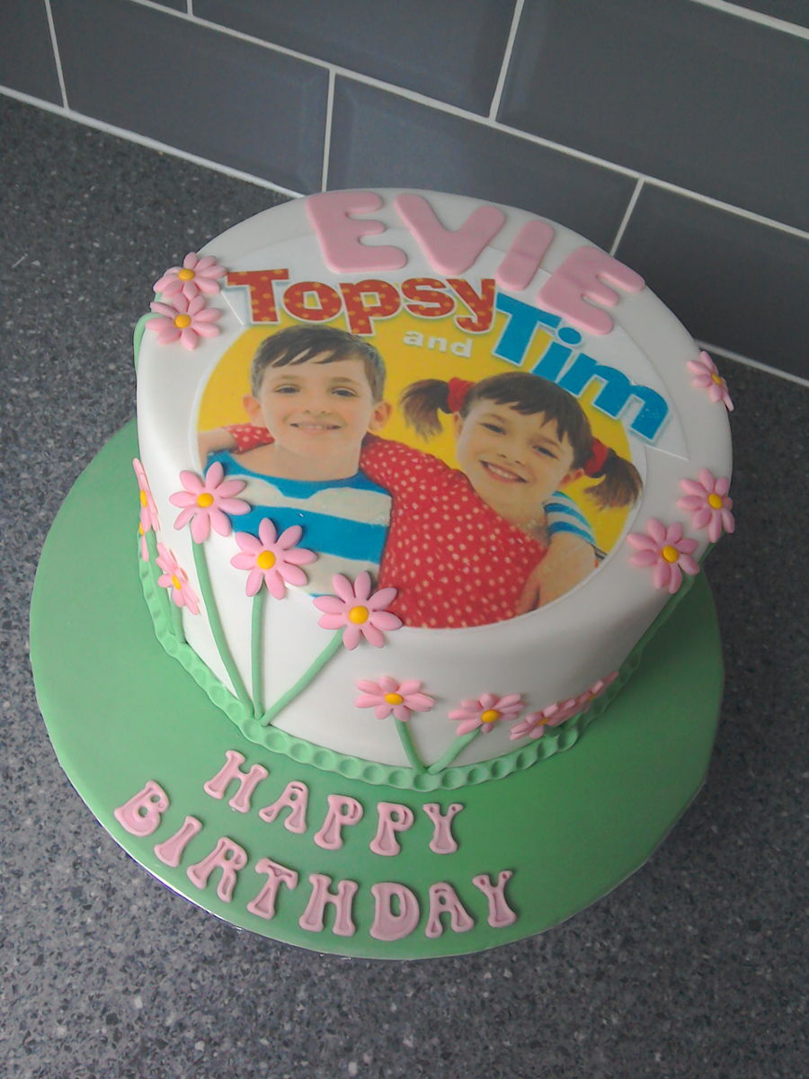 Topsy Tim Edible Image Birthday Cake Cakecentral