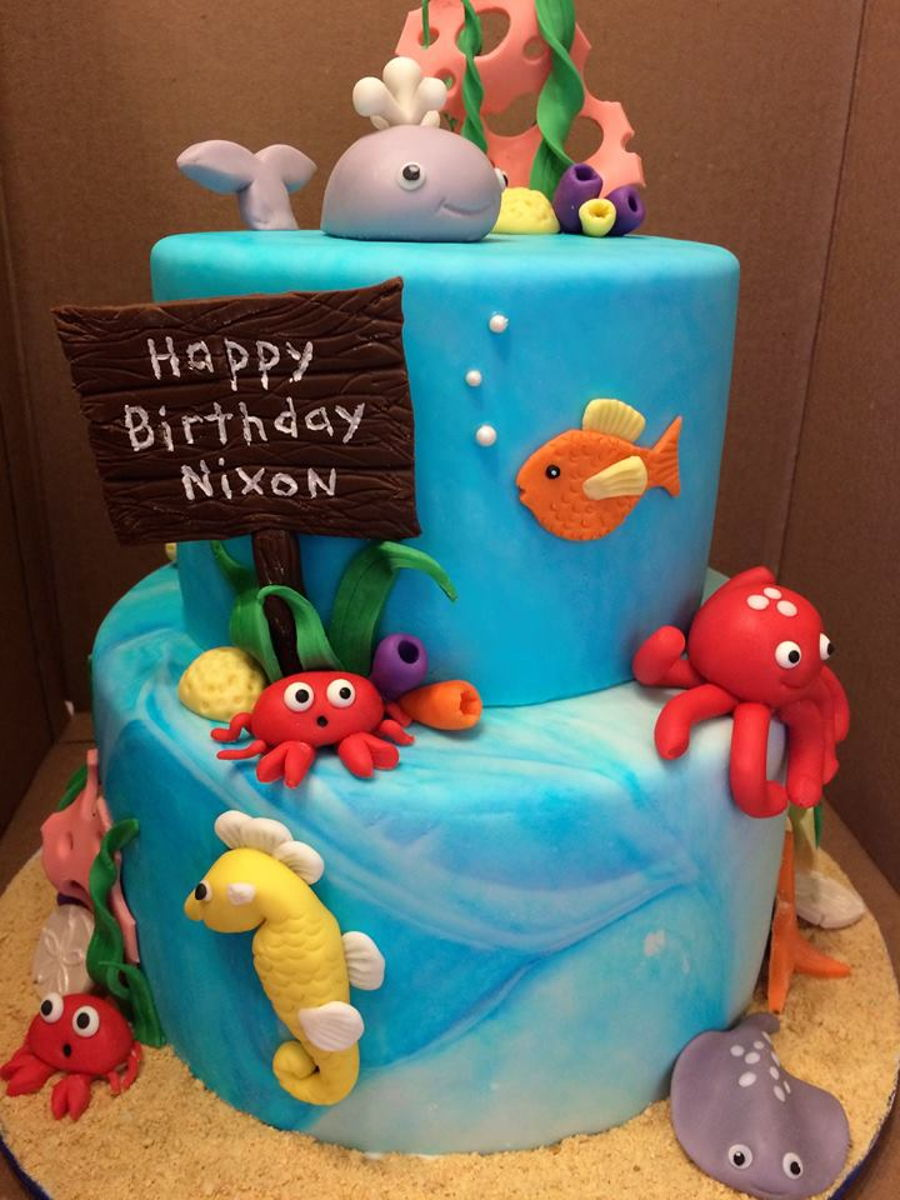 Sea Creatures Cake Decorations