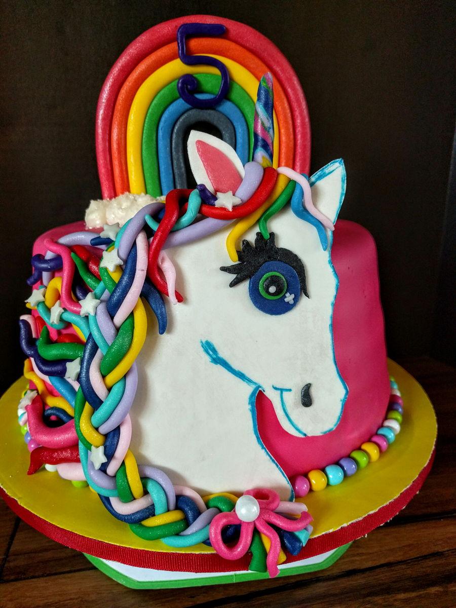 Lisa Frank Birthday Cake