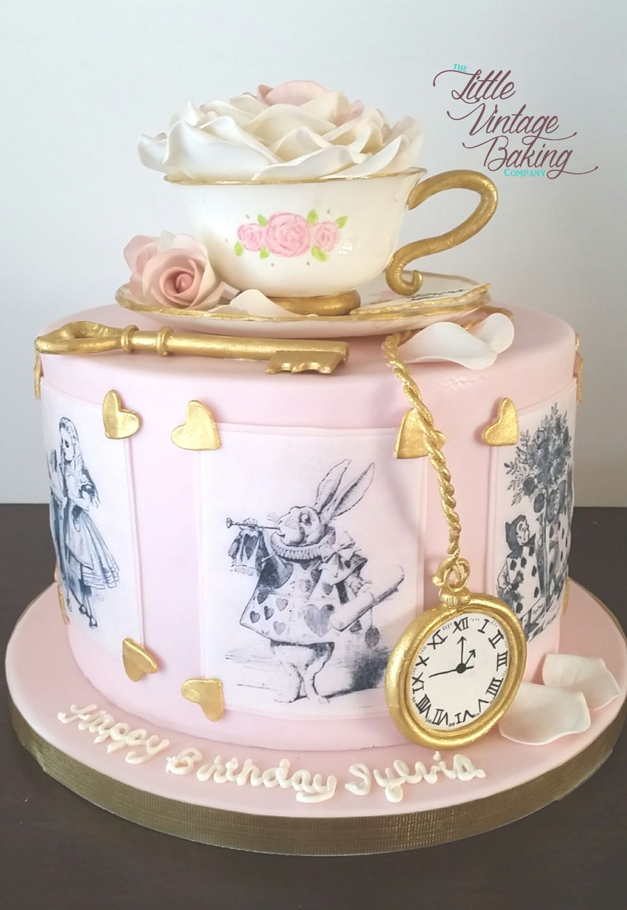 Vintage Cake Decoration Ideas : Vintage Alice In Wonderland Cake - CakeCentral.com