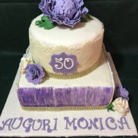 A Sweet Thought he surprise birthday cake for a dear friend of high school, the party was in lilac shades