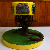 "Abandoned And Spooky 2016 I made this cake for my cousin Diane who loves photography. I tried to show some her favorite shots on this cake, including the tree ""..."