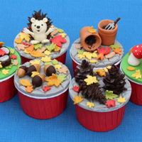 Autumnal Cupcakes cupcakes with an Autumnal theme