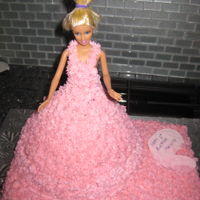 Barbie Princess Cake   Traditional Barbie cake for my daughter's birthday