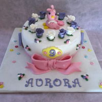 Birthday Cake For A Sweet Little Girl   Aurora is a sweet little girl who loves roses and lilac