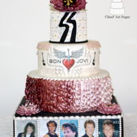 Bon Jovi Cake A 41th birthday cake for a big Jon Bon Jovi fan.