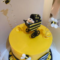 Busy Baby Bee....... This cake is decorated in only chocolate and all of the decorations are made from chocolate.