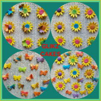 Cake Decorations By Glikz Cakes SUNFLOWERS AND BUTTERFLIES