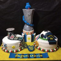 Cake For A Soccer The cake I made for an Inter soccer player with whom he won the UEFA Cup