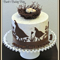 California Quail Birthday Cake My 6 year old grand daughter wanted a California quail birthday cake. This is the design I came up with. Vanilla cake with Swiss Meringue...