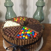 Candy Cake Chocolate cake with chocolate mousse filling