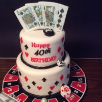 Casino Nights Made for a birthday party with a Casino theme.All edible.
