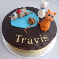 Cat Lovers Cake Vegan chocolate cake for a cat lover