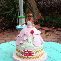 Chevron Doll Cake Chevron Doll Cake