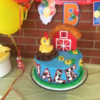 Chicka 2nd Birthday Chicka cake