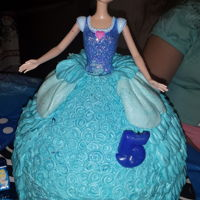 Cinderella Doll Cake   MY DAUGHTER ABIGAIL'S 5TH BIRTHDAY CAKE