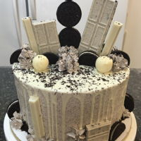 Cookies And Cream Cookies and Cream cake with cookies and cream Swiss Meringue Buttercream.