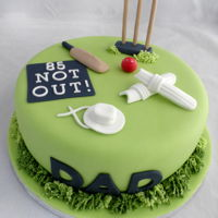 Cricket Cake Cricket cake for a thriving 85 year old cricket enthusiast