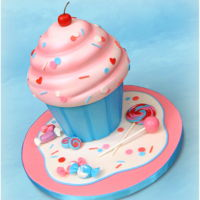Cupcake Cake  This cupcake cake is such a timeless design, and super cute to boot! Perfect for a childs birthday, or even a baby shower! Thanks for...