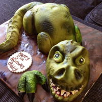 Dinosaur Cake Cake Body RKT head
