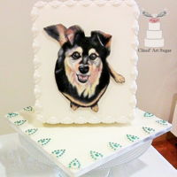 Dog Painted Cake I made this cake for my sister, I painted her dog and the reaction when she saw her birthday present was of total surprise, happiness and...