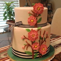 Double Barrel - Carnation Cake My first double barrel cake