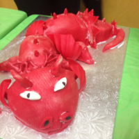 Dragon Cake Dragon cake for school fundraiser - the Delta Dragons