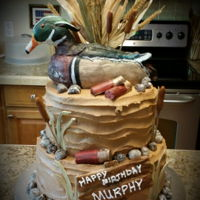 Duck Hunter Cake Duck Hunter Cake / Groom Cake