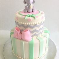 Elephant Baby Shower Cute Elephant baby shower cake