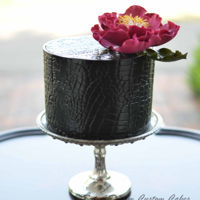 Fierce Black crocodile texture cake